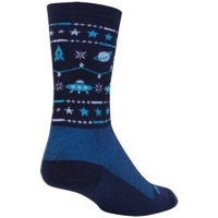 SockGuy Ugly Sweater Wool Socks - Blue