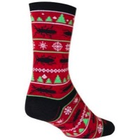 SockGuy Nuclear Wool Socks - Red/Black/Green