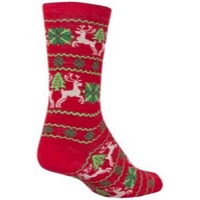 SockGuy Ugly Sweater Wool Socks - Red