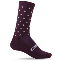 Giro Comp Racer High Rise Socks 2019 - Dusty Purple Crossfade
