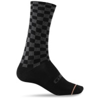 Giro Comp Racer High Rise Socks 2019 - Checkered Peach