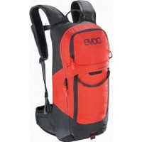 EVOC FR Lite Race Protector Backpack - Carbon Grey/Orange