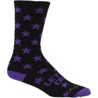 All-City Lets Go Crazy Socks - Purple/Black