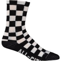 All-City Tu Tone Wool Socks - Black/White