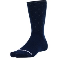 Swiftwick Pursuit Eight Business Socks - Navy/Gray Dots