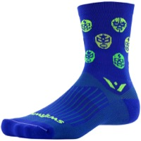 Swiftwick Vision Five Luchador Socks - Blue/Lime