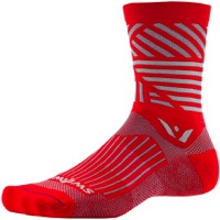 Swiftwick Vision Five Socks - Edge Red/Gray