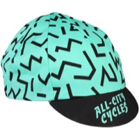All-City The Max Cycling Cap - Black/Mint