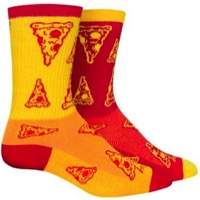 SockGuy Delivery Crew Socks - Red/Yellow