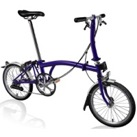 Brompton S2L Complete Bike - Purple Metallic