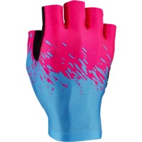 Supacaz SupaG Short Finger Gloves - Neon Pink/Neon Blue
