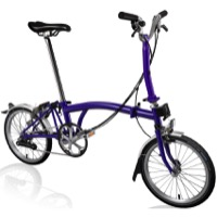 Brompton M6L Complete Bike - Purple Metallic