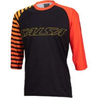 Salsa Devour 3/4 Sleeve Jersey - Orange Fade Stripe