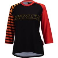 Salsa Devour MTB Women's Jersey - Orange Fade Stripe